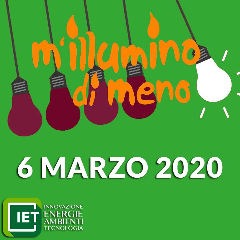 M'illumino di meno 2020 – IET Impianti